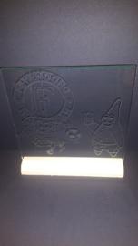 Glasplaat met fyenoord/spongebob