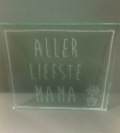 Glasplaat voor een lieve moeder
