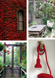 romantic red garden