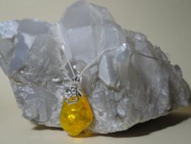 Amber hanger met 925 zilver ketting