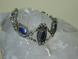 Armband tibetaans zilver met Lapis Lazuli