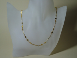 Choker fantasie ketting Gold Filled 18 karaat