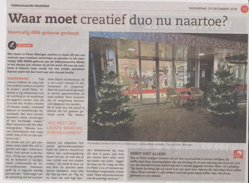 Blackline Art Studio weer in de krant