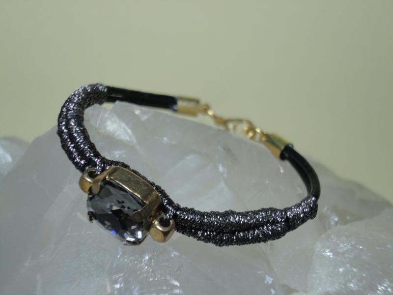 Armband met Rookkwarts kleur steen