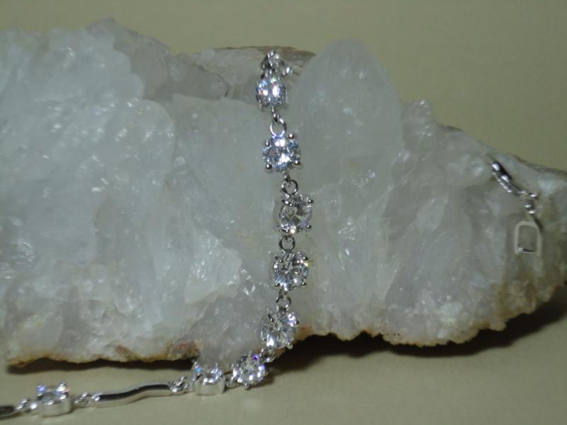 Gold Filled armband met 10 GIGA Bergkristal stenen