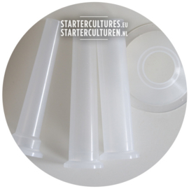 Set of 3 stuffing tubes for meat grinders