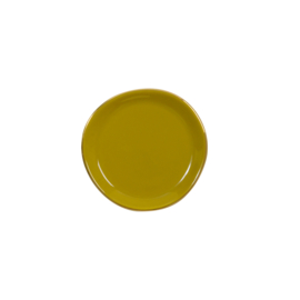 URBAN NATURE CULTURE GOOD MORNING PLATE SMALL, AMBER GREEN
