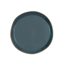 URBAN NATURE CULTURE GOOD MORNING PLATE, BLUE GREEN