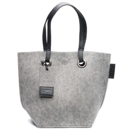 Zebra Trends Natural Bag vilt light grey