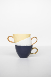 URBAN NATURE CULTURE GOOD MORNING CUP , RAFFIA YELLOW