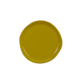 URBAN NATURE CULTURE GOOD MORNING PLATE, AMBER GREEN
