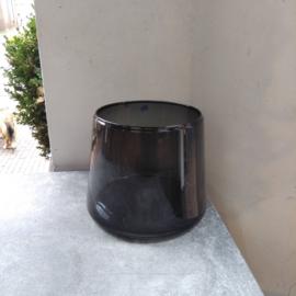 Zwarte vaas / windlicht middel
