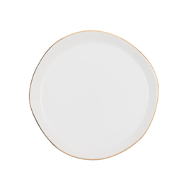 URBAN NATURE CULTURE GOOD MORNING PLATE, MORNING WHITE