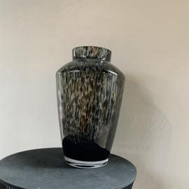 Panter vaas hudson zwart-grijs