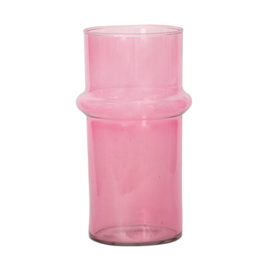 URBAN NATURE CULTURE VASE RECYCLED GLASS PINK