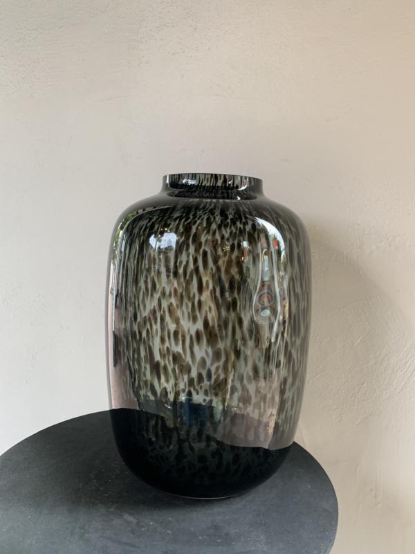 Panter vaas zwart / grijs L