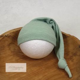 Puntmuts - wollen serie (Mint groen)