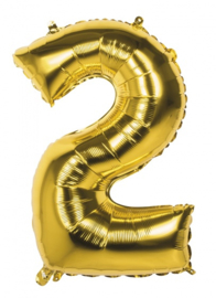 Cijferballon 2 Goud