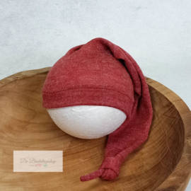 Puntmuts- Wollen serie (Rood)