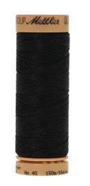 Mettler quiltgaren met wax-zwart