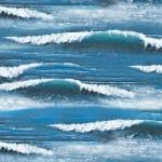 Zee met golven