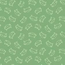 Crafty Cats kopjes op groen