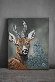 Schilderij Hert