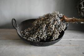 Oude gietijzeren wok