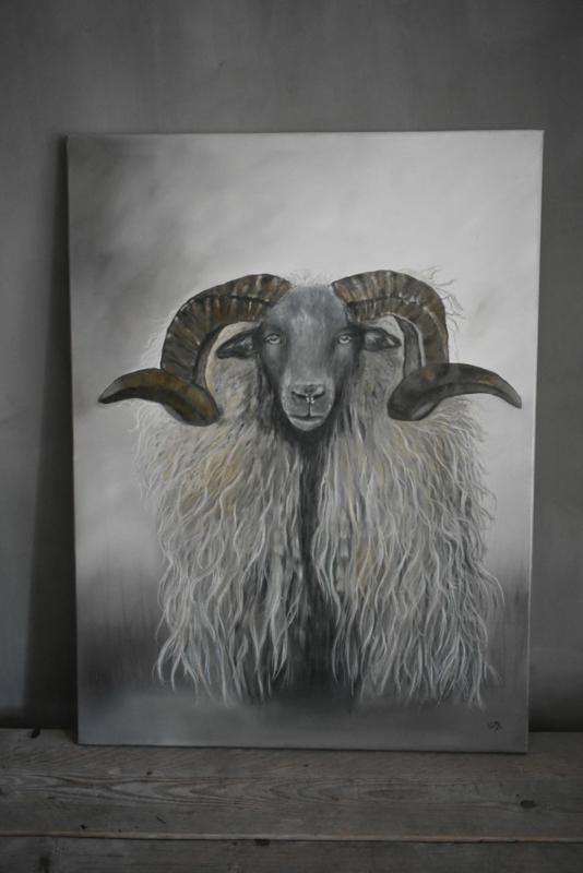 Schilderij Ram
