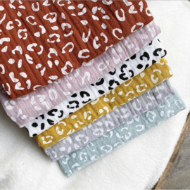 BZ Swaddle 40x40 - Ochre Yellow Leopard