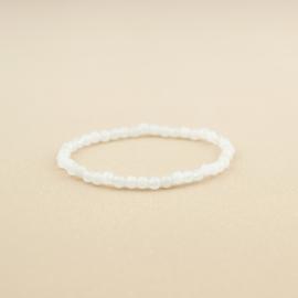 BZ Wit Agaat | Edelstenen armband