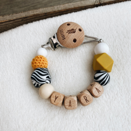 Pacifier clip with name ´Tido´
