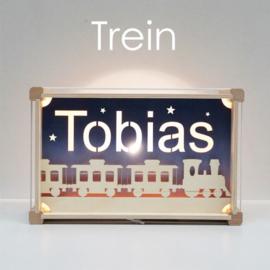 Deluxe Naamlamp met Thema: Trein