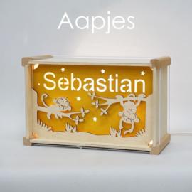 Deluxe Naamlamp met Thema: Aapjes