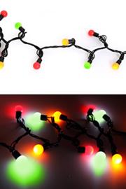 Verlichtingssnoer Carnaval rood/geel/groen 50 lampjes