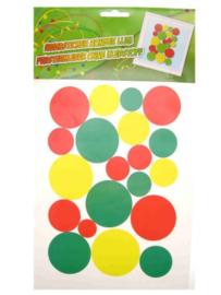 Raamsticker Carnaval confetti snippers
