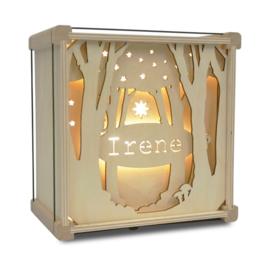 Lamp met naam: Tussen de bomen