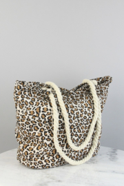 "Strandtas/Shopper ""Leopard"" beige"