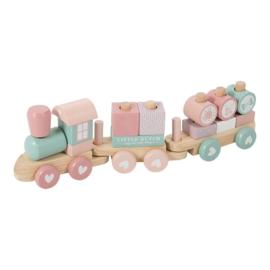 Little Dutch houten geboorte trein