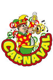 Raamsticker Carnaval muzikant trompet