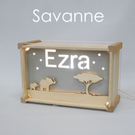 Deluxe Naamlamp met Thema: Savanne