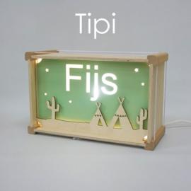 Deluxe Naamlamp met Thema: Tipi