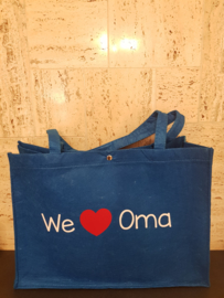Vilten tas (we love Oma)