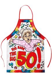 Keukenschort Sarah you made the big 50 one size