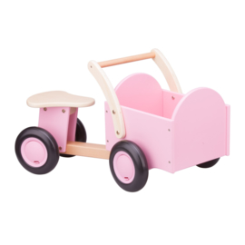Bakfiets roze (New Classic Toys)