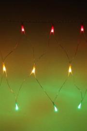 Visnet Carnaval rood/geel/groen 45 lampjes