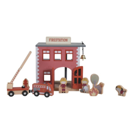 Little Dutch Holzeisenbahn Erweiterung - Feuerwehrhaus