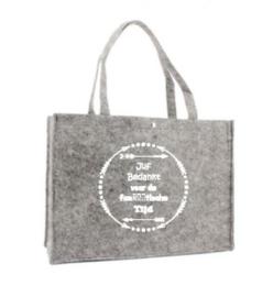 Vilten tas (Juf bedankt voor de fanTAStische tijd)