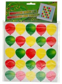 Raamsticker Carnaval ballonnen