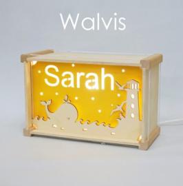 Deluxe Naamlamp met Thema: Walvis